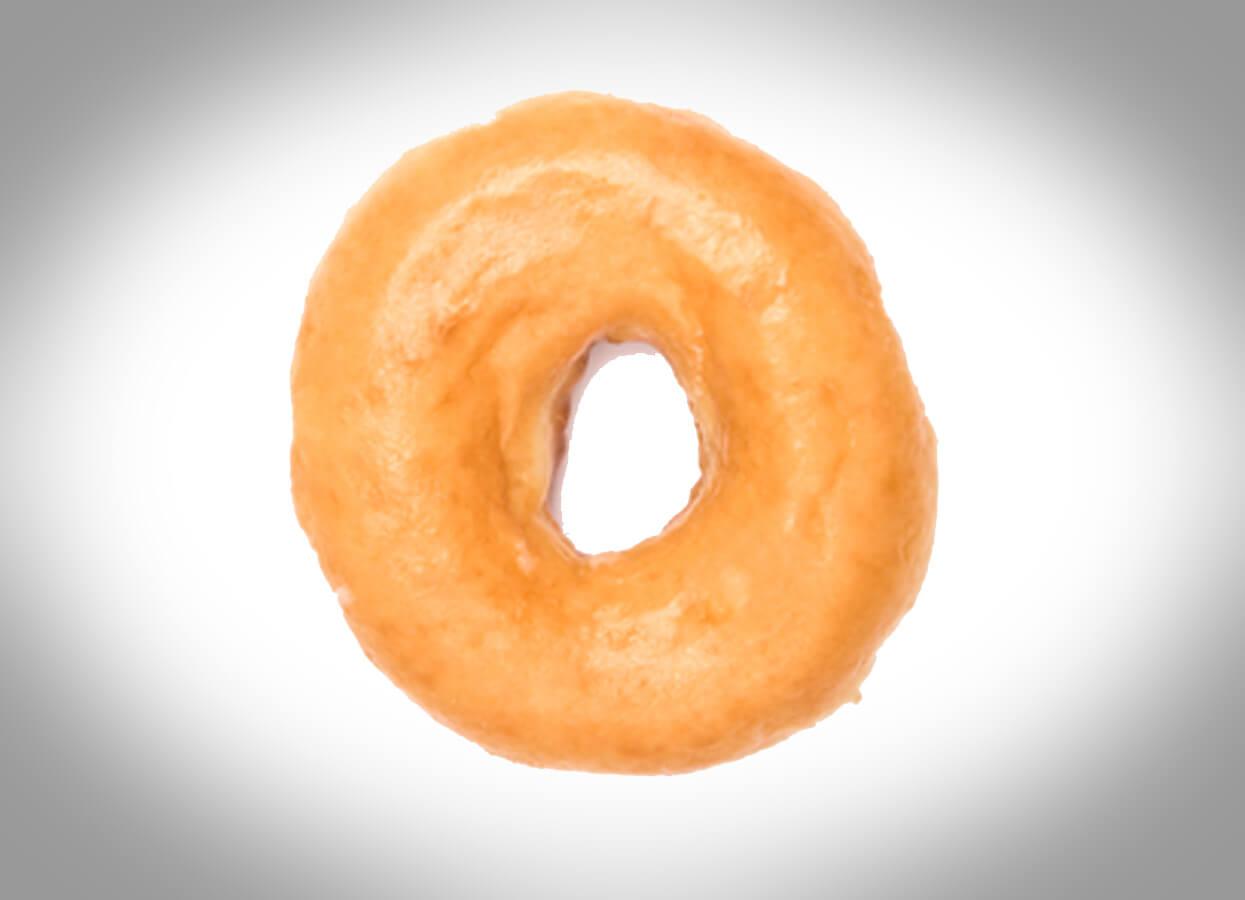 Showing a glazed donut.